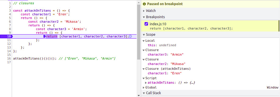 closure in javascript with example